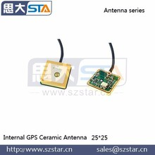 High gain active internal gps ceramic patch antenna for tablet