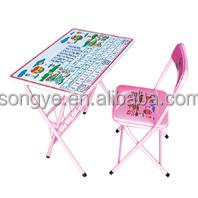 Kinder-falten tisch und stuhl, schulmöbel/Kindergarten