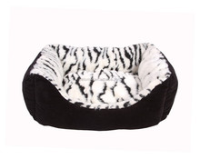 stripe print dog bed