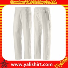 New designer classic solid color dry fit polyester mix size plain men cricket trousers waist adjuster