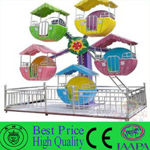 Funny Interesting Playground 5-12 Cabins Park Rides Mini Ferris Wheel For Sale