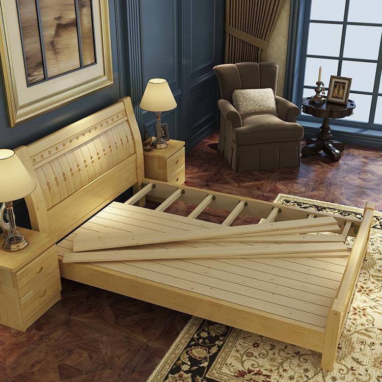 SG0214 cómodo buen sueño doble XL madera de teca camas dobles ...