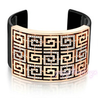 New launched 18k gold plated 2015 fashionable design india cuff bangle