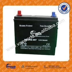 12V JIS 36AH N36MF Bulk car batteries Maintenance Free car battery charge NS40LSMF