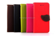 Factory Price wallet flip leather slim wallet leather case for iphone 6 easy install