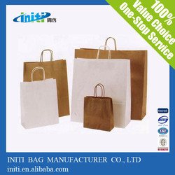 2015 alibaba cotton shopping brown paper grocery bags with hand