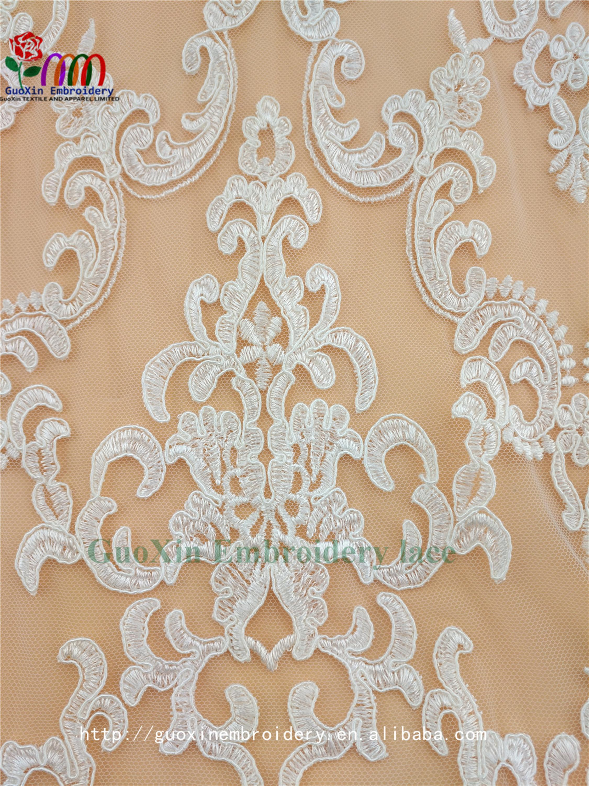 embroidery tulle manufacture wholesale wedding veil ivory lace fabric with cording (5).jpg