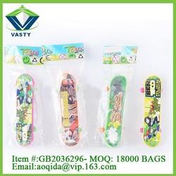 Promotion gift small plastic finger skateboard toy