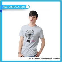 Popular customized sublimation new design gym t shirt Men Gym Tight Fit Stretch Cotton T Shirt Round Neck Good Quality O Neck