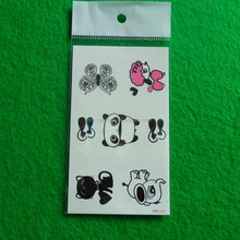 panda/cat/elephant/dog/butterfly animal tatoo stickers