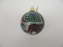 en el interior pintado a mano bola de cristal decoración de la navidad en china