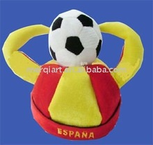 2014 Spain football jester hat with min football for World Cup promotion item