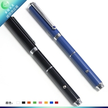 Black/Blue metal pen with LED light multi- functions roller pen