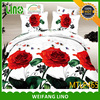 red rose bed sets sheet/custom size pillow cases/bed in a bag sets