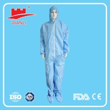 Disposable Flame Retardant Protective Coverall with hood/Fire resistance safety coverall