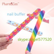2015 new product pharmacos Abrasive Nail file /red yellow emery board /nail buffer for nail