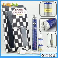 New starter kit 1.5ohm atomizer evod twist 3 m16 alibaba italian e cigarette with factory price