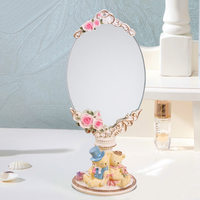 colorful funny cute removable round mirror centerpiece sheraton hotel bathroom shower smart mirror shaving fogless
