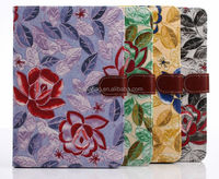 2014 Newest PU flower case with card slots for ipad mini 2