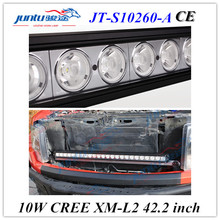 Juntu 42.2 inch led chip 260w 12v car led light bar for land cruiser, suv