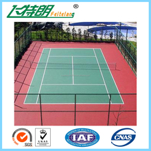 Manufacturer price IAF certificated Silion PU sports flooring for badminton court/tennis court/basketball court surfaces