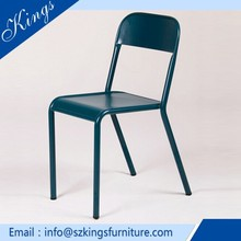 OEM size Dining Chair Stacking Rustic Banquet Metal Chair