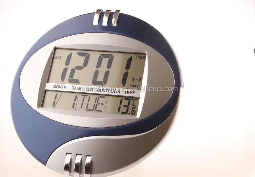 jumbo lcd affichage décoratif numérique horloge murale bureau