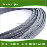 12mm Silver Grey Braided PET Expandable sheathing Auto Wire cable Gland Sleeving