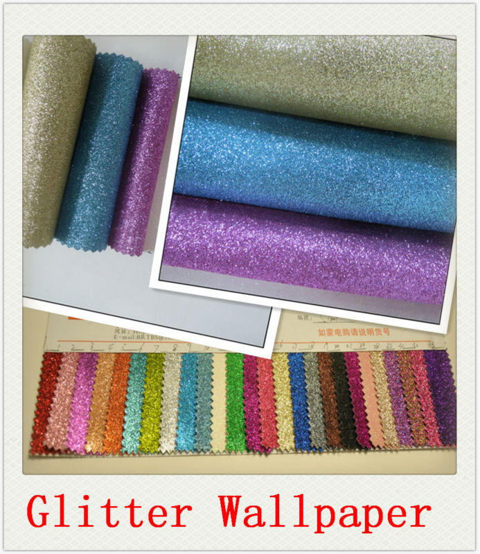 Sparkling effect glitter powder wallpaper best for Cheap glitter wallpaper