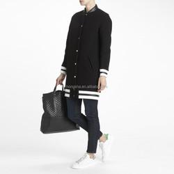 Custom Blue Long Baseball Jerseys Wholesale Blank Varsity Jacket With Elastic Hems HSC1123