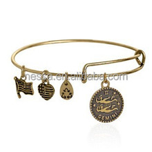 Gold adjustable swing Alex and Ani charm bracelet made in USA NSNS-20898