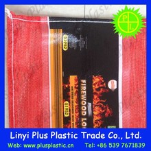 wholesale factory directly red color polythylene vegetable fruit L sewn mesh bags