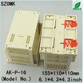 china más reciente electrónico caja de plástico con aislamiento de tornillo de la caja
