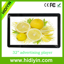 """32"""" factory price used wall mounted wide screen metal casing digital electronic advertising display"""