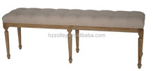 Contemporary Fabric Home Wooden Bench Upholstered Indoor Bench