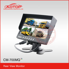 7 Tft/Lcd Monitor CM-700MQ with CE,RoHS,E-Mark Certificate,Aotop Car rearview system