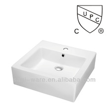 SN108-036 New design square ceramic CUPC above counter sink
