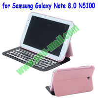 Ultrathin Detchable Bluetooth Keyboard Leather Case for Samsung Galaxy Note 8.0 N5100