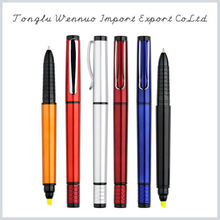 Factory price promotional fashionable colorful 5 color pen with highlighter