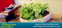 handmade decorative garden stone flower pot