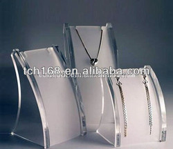 Cheap L Shape Acrylic Necklace Display Stand forJewelry Shop