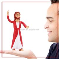 Custom pvc bendable toys figure/3D Jesus image design bendable toys figure/make custom human bendable toys figure