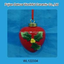 Popular ceramic hanging decoration for christmas