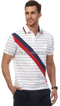 SLIM FIT PIECED STRIPED DECK POLO SHIRT