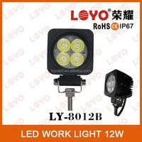 Mini 12W led car light working light, led Motorcycle work lamp