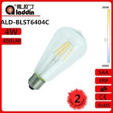 alibaba express 360 degree ST64 E27 4w 400lm 2700K led filament lamp