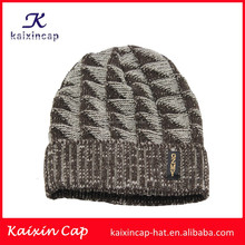 wholesale alibaba customize your own logo with woven label fitted 100 acrylic blank jacquard mens wool knitted hat