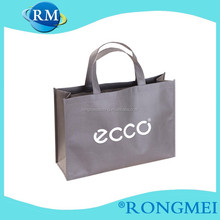 Grey eco custom side and bottom gusset non-woven shopping bag