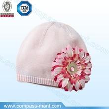 pink flower girls kufi hats