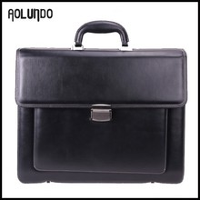 Classical designed men's genuine leather briefcase